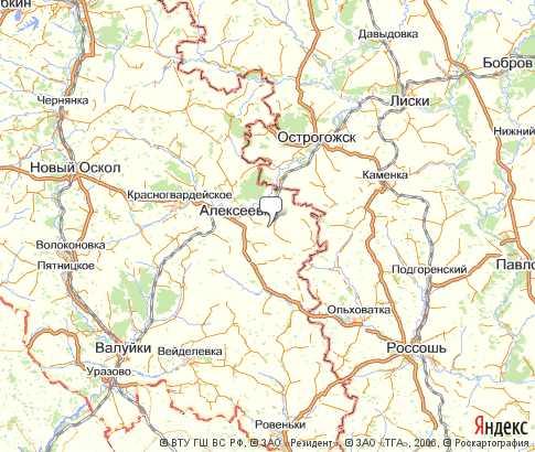 карта алексеевки белгородской области с картинками
