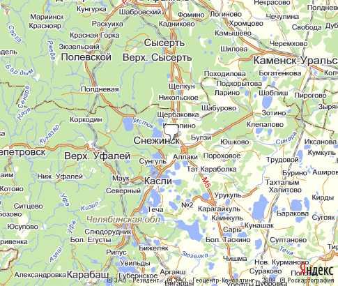 подробная карта каслинского