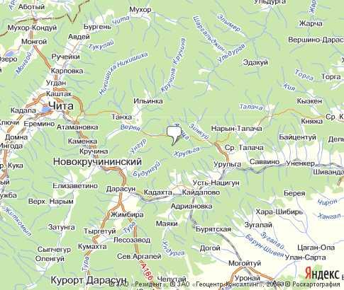 Читинская Область Спутниковая Карта