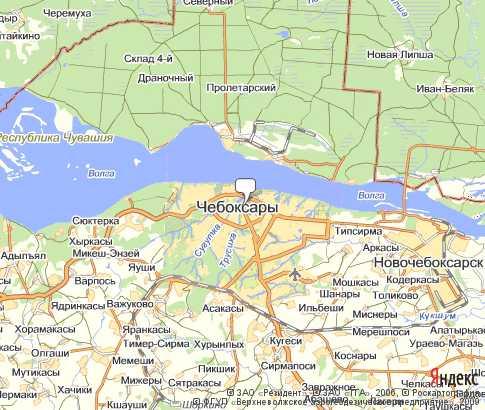Чебоксары - карта, Республика.