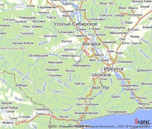 Географическая карта для