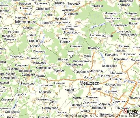 транспорта Калуги на карте