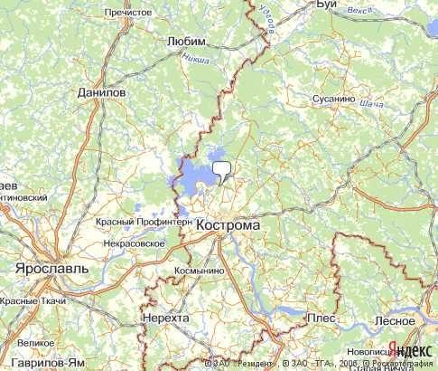 Жужелино Карта Кострома