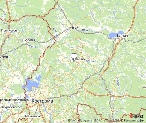 Карта Сусанинского Района