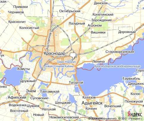 Карта поселка Архипо-Осиповка