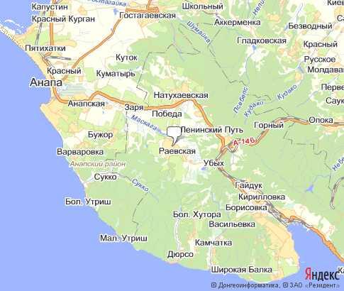 Карта: Раевская