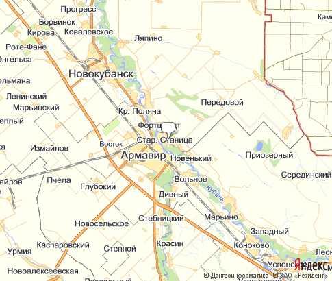 Карта: Старая Станица