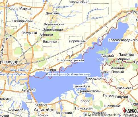 Карта: Старокорсунская