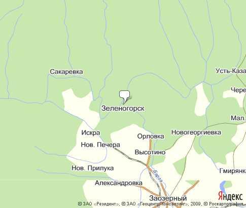 Карта: Зеленогорск