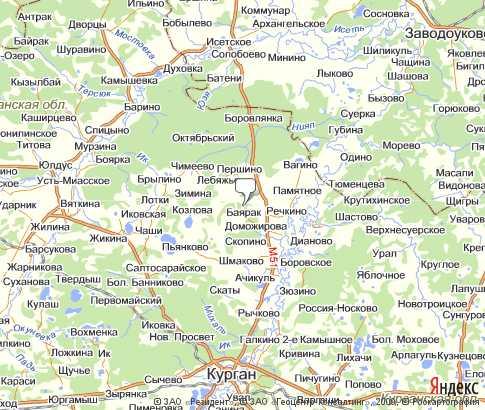 карта белозерского района