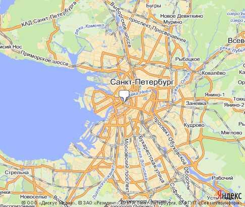 Карта: Санкт-Петербург