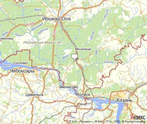 Подробная карта Звениговского
