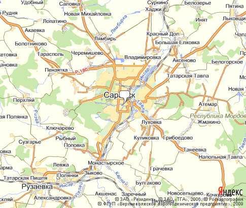 карта саранска спутника карта