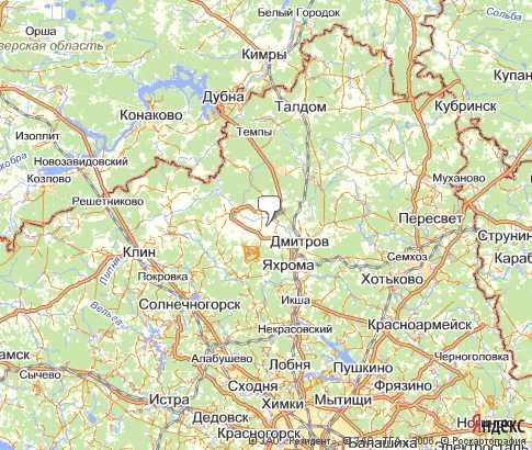 карта дмитровского района московской области для рыбалки