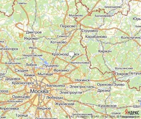 Щелковский район - карта, Московская область , Центральный ...