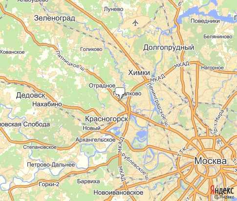 карта митино в москве