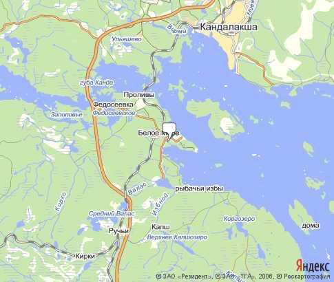 Белое Море - карта, Мурманск..