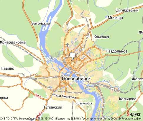Карта Новосибирская Область