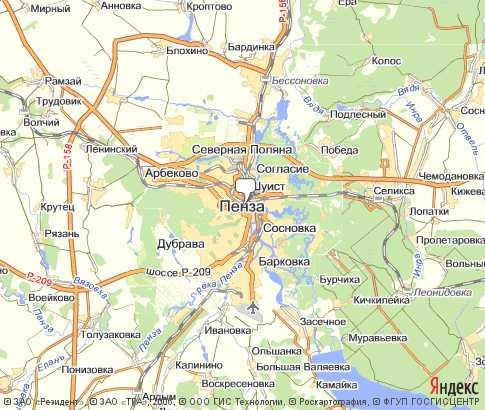 Карта: Пенза