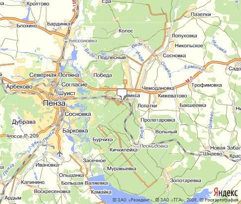Пенза на карте россии гугл