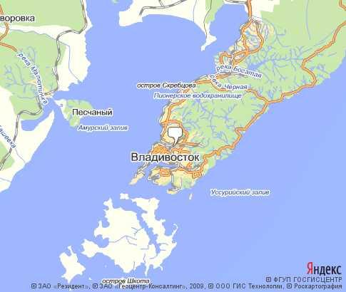 Карта владивосток на русском языке