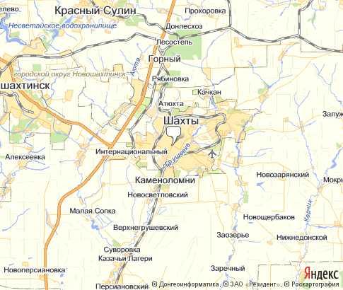 Карта: Шахты
