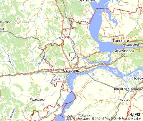 карта сызрани спутника