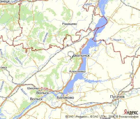 Политическая карта хвалынский на