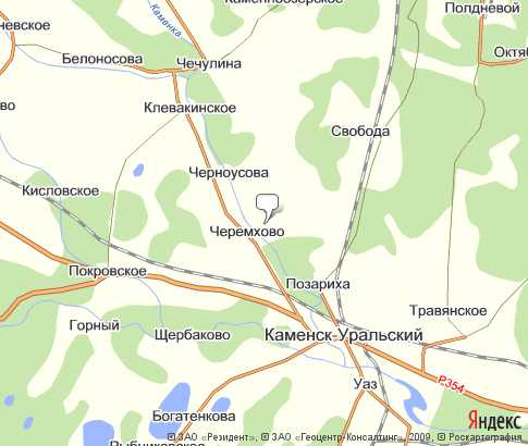 карта каменска уральска