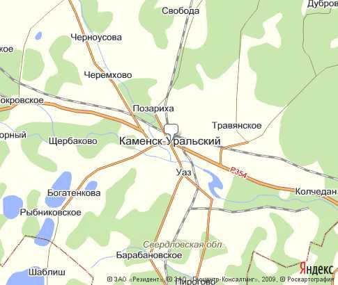 Карта: Каменск-Уральский
