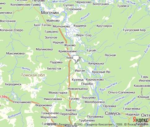 Карты Томской Области