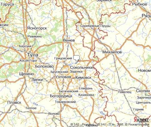 Карта: Новомосковский