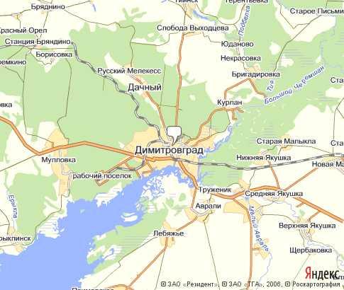 Dimitrovgrad Na Karte Rossii Obnovlennye Karty Otlichnyj Servis