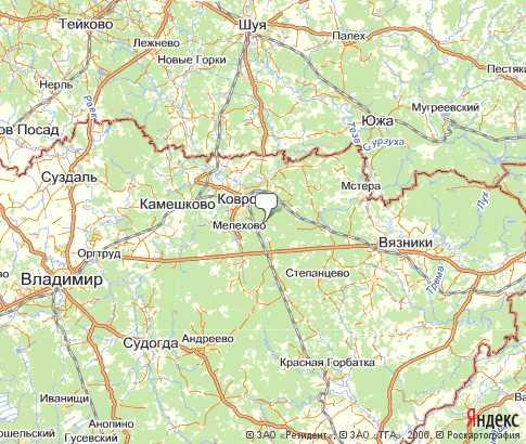 Карта: Ковровский