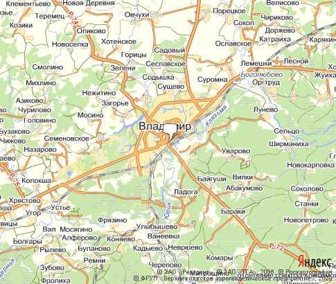 Карта: Владимир