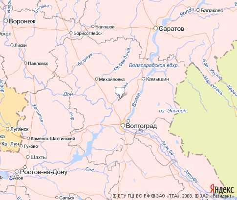 карта Волгограда со