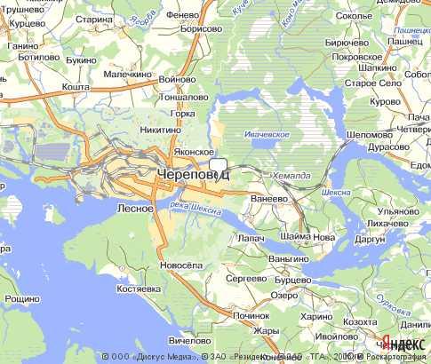 Подробная Гугл Карта Череповец