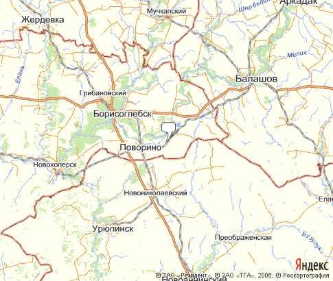 Карта поворинский на русском языке