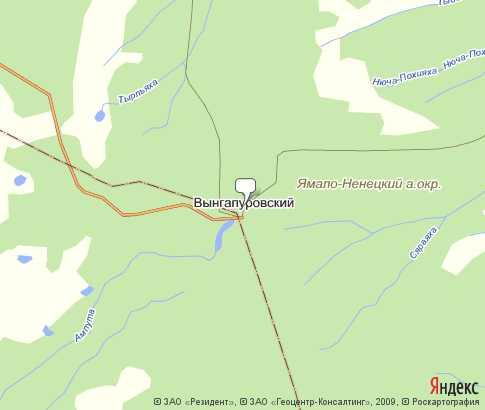 карта вынгапуровского